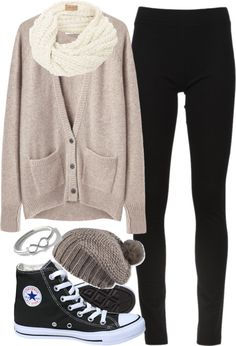 comfy look...can't go wrong with Converses
