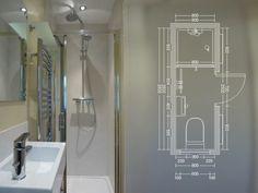 plan de travail salle de bain en gris, idee comment construire votre petite salle de bain