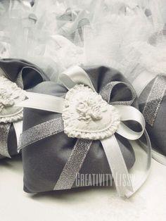 Bomboniera 25 anniversario/nozze d'argento. Facebook: Creativity Lissy.