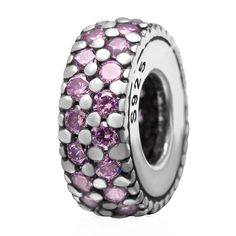 Babao Jewelry Cocise Circle Pink CZ Crystals 925 Sterling Silver Bead fits Pandora Style European Charm Bracelets * Hurry! Check out this great product : Charms and Charm Bracelets
