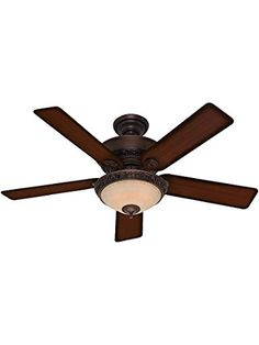 Hunter 52228 Casual Donegan Three Light Onyx Bengal Ceiling Fan With Light 44 ** See this great product.