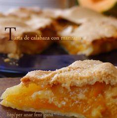 tarta dulces de calabaza y manzana