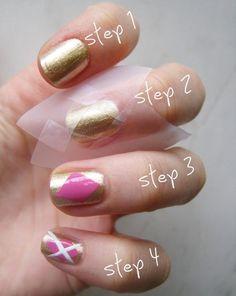 #DIY argyle manicure