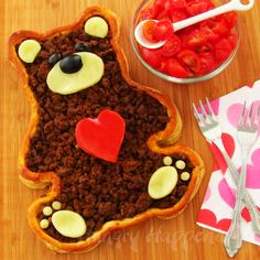Puff pastry bear filled with taco meat and a layer of cheese underneath! I can't wait to try this!