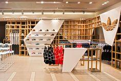 "adidas Originals Fashion Space by ONOMA Architects: Athens' latest retail location is the adidas Originals ""fashion space,"" designed by award-winning Boutique Interior, Shop Interior Design, Retail Design, Store Design, Visual Merchandising, Design Garage, Shop Front Design, Interior Simple, Espace Design"
