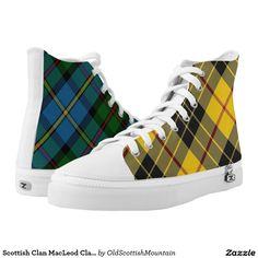Scottish Clan MacLeod Classic Two in One Tartan Printed Shoes