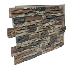 Superior Building Supplies Faux Grand Heritage 24 in. x 48 in. x 1-1/4 in. Stack Stone Panel Rustic Lodge-HD-COL2448-RL - The Home Depot