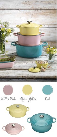 Pastel kitchenware is great for creating that fresh spring look.
