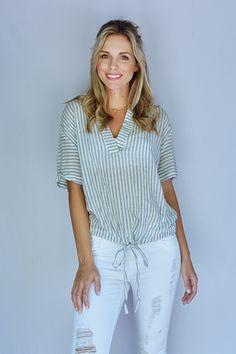 Jessica Striped Top - {a} haley boutique