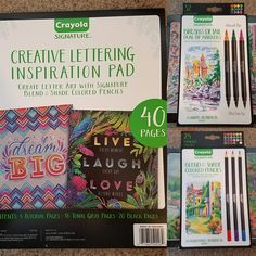 Enter this #giveaway for a chance to #win a Crayola Signature set of markers or pencils. #coloring #coloringbook #sweeps #free