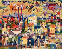 "Diane Culhane White Bird 24""x30""x1.5"" acrylics on canvas www.dianeculhaneart.com"