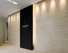 elevator lobby- fabulous lighting detail: