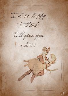 Peter Pan/  Estoy tan feliz que creo que te daré un beso