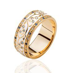 Diamond Jewelry unique gold band with small gemstones Gold Bands, Diamond Wedding Bands, Diamond Rings, Diamond Jewelry, Gold Jewelry, Jewelry Rings, Jewelry Accessories, Diamond Bracelets, Jewellery
