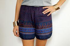 A Pair & A Spare | DIY Scarf Print Shorts
