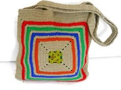 Beige Crochet Bag, Women Shoulder Bag, Knitting Handmade Bag, Mothers Day Gift, Shopping Bag, Beach Bags, bag for women, Unique Bag