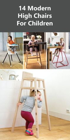 14 Modern High Chairs For Children