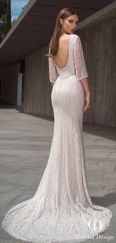 Elegant sheath mermaid backless Bridal gown. Backless Wedding Dress With SleevesOpen  Back ... 06bde99ede7e