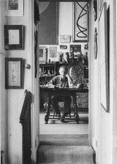 André Breton rue Fontaine, Paris France by Sabine Weiss Robert Doisneau, Artist Wall, Artist At Work, Sabine Weiss, Rudolf Stingel, Willy Ronis, Chaim Soutine, Social Realism, Magritte