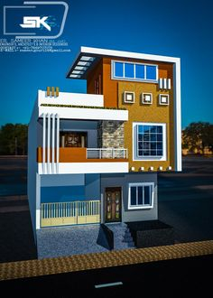 Lovely Small House Designs Exterior Front Elevation Introducing the modern house exterior elevation in 25 front House Arch Design, Bungalow House Design, Unique House Design, Front Elevation Designs, House Elevation, Elevation Plan, New Modern House, Home Design Floor Plans, Ikea
