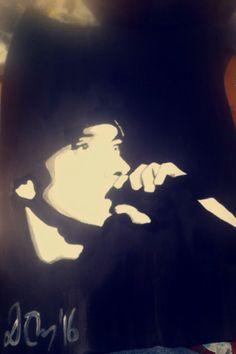 #eminem #acrylic #painting Eminem, My Arts, Celestial, Painting, Outdoor, Outdoors, Painting Art, Paintings, Painted Canvas