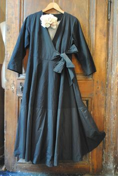 Love this, as true wrap dress, also make as  versions to use as apron. Add sleeve length to dress version, with bell sleeves. Add ruffle at bottom hem.