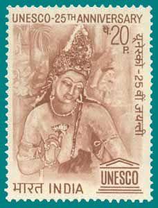 Indian Postal Stamp - Ajantha Mural