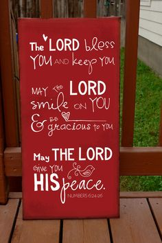 The Lord Bless You verse on Canvas by jdwhaley on Etsy, $65.00
