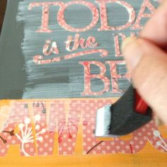 How to add vinyl lettering to canvas via @Guidecentral - Visit www.guidecentr.al for more #DIY #tutorials