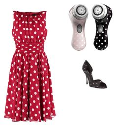 """""""Polka Dot Perfect!"""" by kylamckay1210 on Polyvore featuring Clarisonic, Swing, Dolce&Gabbana, women's clothing, women, female, woman, misses and juniors"""