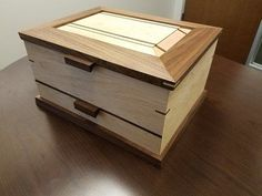 Maple and Walnut Jewelry Box