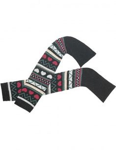 Dahlia Women's Wool Blend Leg Warmers - Hearts