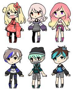 Drawings Of Gachas! Kawaii Drawings, Cartoon Drawings, Cute Drawings, Tumbrl Girls, Drawing Anime Clothes, Chibi Characters, Fashion Design Drawings, Anime Outfits, Character Drawing