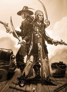 Anne Bonney and Mary Read are the most famous -- and ferocious -- women pirates in history, and they are the only ones known to have plied their trade in the Western Hemisphere.