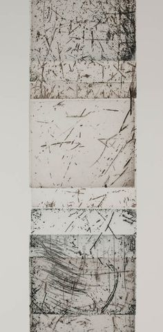 Heather Burness - 28 Rememberings of Transpositions: water levelling (numbers 11, 8 & 13) etching