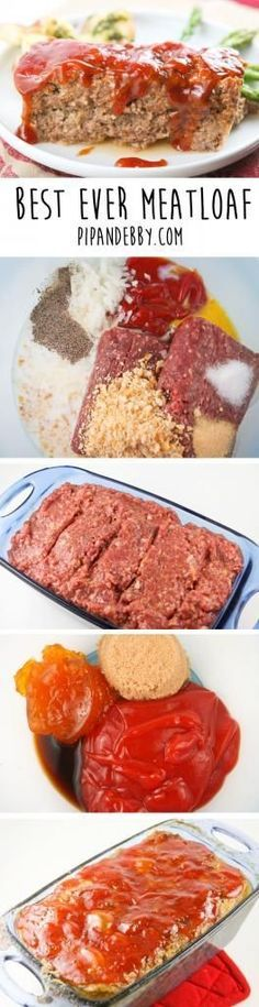 "It""s whats for dinner! Best Ever Meatloaf - this is one of my mother's recipe and it is seriously the BEST meatloaf I've ever tasted. Even anti-meatloaf people will be surprised about how delicious it is! Meatloaf Recipes, Meat Recipes, Cooking Recipes, Dinner Recipes, Oven Recipes, Best Meat Loaf Recipe, Recipies, Best Meat Loaf Ever, Easy Cooking"