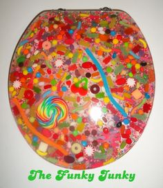 Resin Toilet Seat w Candy! they sell the mold for this on etsy... it would be lots of fun to make!
