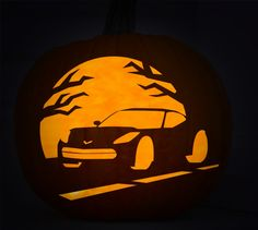 With Halloween just around the corner, Chevrolet released an assortment of jack-o-lantern stencils that will help you carve just about any of Chevy's models in this year's pumpkin.