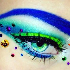 Tropical flower inspired eyes <3