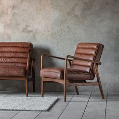 Gallery Direct Datsun Armchair Vintage Brown Leather x x Living @ HOI Brown Leather Armchair, Brown Armchair, Leather Lounge, Leather Armchairs, Wooden Armchair, Cafe Chairs, Diy Décoration, Modern Chairs, Decoration