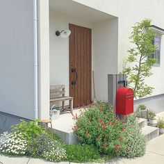 House Entrance, Go Green, Garden Landscaping, Tall Cabinet Storage, Garden Design, Shed, Exterior, Outdoor Structures, In This Moment