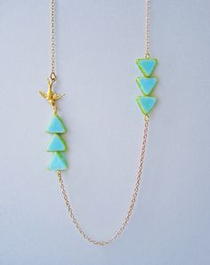 Heading In The Right Direction - Bird Necklace — Eclectic Eccentricity Vintage Jewellery