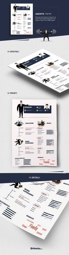 For all applicants who want their resumes show they can kick ass, make buildings explode while looking like a real pro. A very playful template that makes your resume stand from the others.