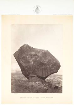 No. 14 Perched Rock, Rocker Creek, AZ. From New York Public Library on Flickr.