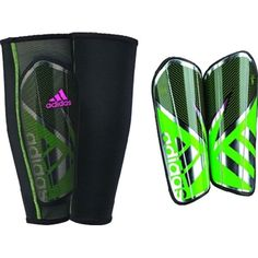 Stay protected while playing soccer with the adidas Ghost Pro Soccer Shin Guards, which are made of polypropylene and thermoplastic gum with durable EVA backings for cushioning. The injection-molded c