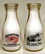 """Collectible Antique Milk Bottles"""