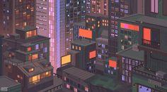 Happy New Year by minimoss on DeviantArt Aesthetic Desktop Wallpaper, City Wallpaper, Anime Scenery Wallpaper, Cool Pixel Art, Anime Pixel Art, City Aesthetic, Aesthetic Anime, Dank Gifs, Pixel Art Background