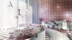 """""""Sypialnia"""" (which in Polish means """"""""bedroom"""") is the first conceptual restaurant project in the """"Pastel Collection"""", entirely designed by Karina Wiciak."""