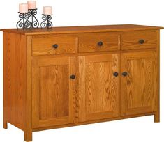 Amish Old South Country Buffet Cabinet Ready for fine china and fun foods. Fine solid wood furniture for dining room or kitchen. Customize in choice of wood, stain and hardware. #buffet #diningroom