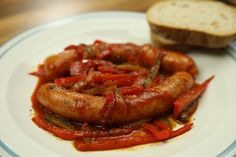 """This is """"Cikánské párky podle oujezdské babičky"""" by Toprecepty on Vimeo, the home for high quality videos and the people who… Food Videos, Sausage, Bacon, Foods, Cooking, Breakfast, Health, Food Food, Kitchen"""